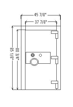 CE Series Composite Fire & Burglary Resistive Vault Door